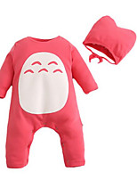 Girl's Red Overall & Jumpsuit,Cartoon Cotton Winter