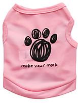 katten / honden T-shirt / Kleding / Kleding Zwart / Blauw / Roze Zomer Flora / Botanisch Modieus-Pething®