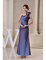Formal Evening Dress-Ocean Blue Trumpet/Mermaid One Shoulder Floor-length Taffeta