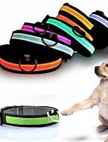 Katter / Hundar Dekorativa Halsband Röd / Vit / Grön / Blå / Rosa / Gul / Orange Vinter / Sommar / Vår/Höst Enfärgat Mode / LED-Pething®