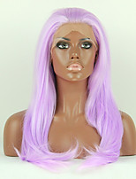 perruques mode perruques synthétiques dentelle devant 22inch droite chaleur pourpre cheveux résistants perruques wome