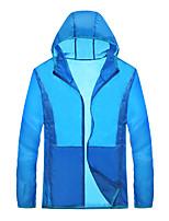 JISNEYMen's Long Sleeve Regular Trench coat,Nylon Solid Summer sun sunscreen clothing lovers
