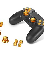 Metal Bullet Buttons ABXY Buttons + Thumbsticks Thumb Grip and Chrome D-pad for Sony PS4 DualShock 4 Controller Mod Kit