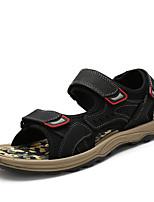 Zapatos de Hombre-Sandalias-Exterior / Casual / Laboral-Cuero-Negro / Marrón / Amarillo