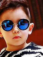 Round Full-Rim Plastic Resin Fashion Sunglasses for Kids