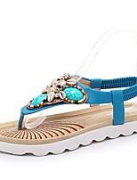 Синий / Белый-Женская обувь-Свадьба / Для офиса / Для праздника / На каждый день / Для вечеринки / ужина-Дерматин-На плоской подошве-