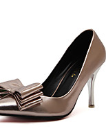 Women's Shoes Fleece / Leatherette Stiletto Heel Heels Heels Party & Evening Silver / Champagne