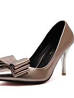Zapatos de mujer-Tacón Stiletto-Tacones-Tacones-Fiesta y Noche-Vellón / Semicuero-Plata / Champán