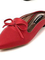 Women's Shoes Leatherette Summer Comfort Outdoor / Casual Flat Heel Bowknot Blue / Red / Gold