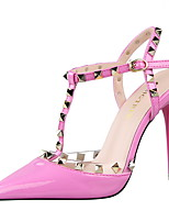 Women's Shoes Stiletto Heel Heels / Pointed Toe / Closed Toe Sandals Dress Black / Pink / Red / White / Silver / Gray