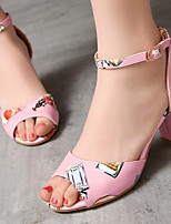 Women's Shoes Chunky Heel Heels/Open Toe Sandals Office & Career/Dress Black/Blue/Pink/White