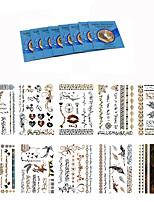 Outros-king horse-Tatuagem Adesiva-Non Toxic / Waterproof / Metálico- paraFeminino / Adulto- dePapel-Multicolorido-20.5*14.5CM-GT51-60-