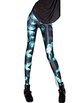 Women Print Legging,Polyester / Spandex Medium