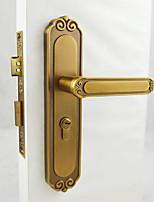 Yellow Bronze Door Lock, Lever Lock, Leverset, Door Lever with 3 Keys