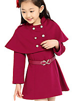 Girl's Red Dress,Ruffle Cotton Spring / Fall