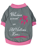 Chat / Chien T-shirt Rouge / Incanardin Eté / Printemps/Automne Floral / Botanique Mode-Pething®, Dog Clothes / Dog Clothing