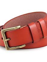 Men Faux Leather Waist Belt,Vintage / Party / Work / Casual Alloy / Leather P3D1P1K1