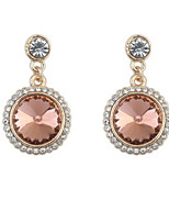 Fashion Paragraph Hot Selling Earrings Double Side Shining Round Rhinestone Drop Earrings Pearl Shped Earrings For Women