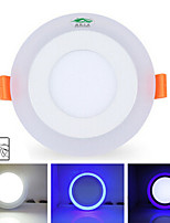9W Plafonniers 20 SMD 2835 900 lm Blanc Naturel / Bleu Gradable / Décorative AC 85-265 V 1 pièce