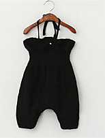 Girl's Casual/Daily Solid Overall & Jumpsuit,Cotton Summer Black / Red / Gray