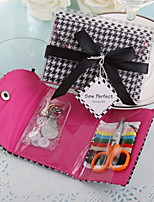 Black & White Houndstooth Sewing Kit Wedding Favor