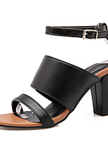 Women's Shoes  Chunky Heel Open Toe Sandals Party & Evening / Dress / Casual Black / White