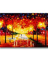 60 * 90cm main paysage peinture à l'huile peinte avec cadre
