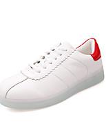 Scarpe Donna-Sneakers alla moda-Tempo libero / Casual / Sportivo-Punta arrotondata-Piatto-Finta pelle-Bianco