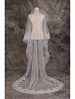 Wedding Veil One-tier Cathedral Veils Cut Edge