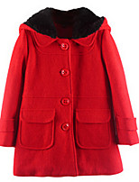 Girl's Jacket & Coat,Nylon Spring / Fall Pink / Red / Gray