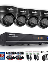 SANNCE® 8CH CCTV System 720P HDMI AHD CCTV DVR 4PCS 1.0 MP IR Outdoor Security Camera Surveillance System