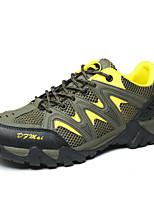 Zapatos de Hombre-Sneakers a la Moda / Zapatos de Deporte-Exterior / Casual / Deporte-Cuero / Sintético / Tul-Azul / Amarillo / Naranja