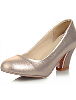 Women's Shoes Chunky Heel Round Toe Heels Dress Pink / Silver / Gold