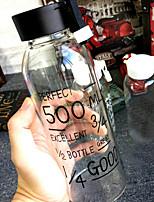 les bouteilles d'eau 1 en verre,