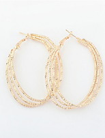 Retro Statement Big U-shaped Ear Buckle Oval Hoop Earrings for Women Dress