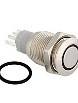 12v vita LED metall switch tryckknapp låsning momentan 16mm