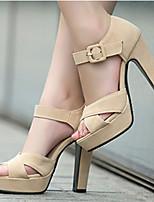 Women's Shoes Heel Heels / Peep Toe / Platform Sandals / Heels Party & Evening / Dress / Casual Black / Pink / Almond