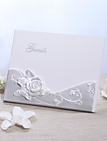 Pearl White Resin Rose Guestbook