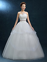 A-line Wedding Dress-Floor-length Sweetheart Lace / Tulle