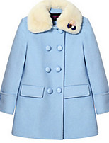 Girl's Blue / Red Jacket & Coat,Bow Wool Winter / Spring