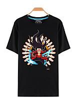 Inspired by Naruto Sasuke Uchiha Anime Cosplay Costumes Cosplay T-shirt Print Black Short Sleeve Top