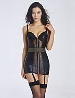 YUIYE® Women Sexy Lingerie Waist Training Corset Set Bustier Dress Shapewear Plus Size Black S-XL