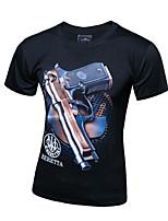 Men's Short Sleeve T-Shirt,Cotton Casual / Plus Sizes Print