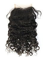 8A unprocessed Virgin Indian Virgin Curly Hair Lace Closure Bleached Knots