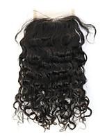 fechamento 8a não transformados virgem indiano virgem cabelo encaracolado rendas nós descorados