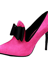 Women's Shoes Fleece Stiletto Heel Heels Heels Casual Black / Brown / Pink / Red / Gray / Coral