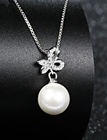 Real 925 Silver Butterfly Fresh Water Pearl Pendant Necklaces Female Models Fashion Woman Wonderful Jewelry