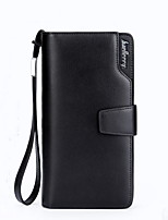 New Business Casual Clutch Men Leather Purse Single Zipper Wallet Long Section of The Matte Surface Male Wallet
