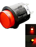 Jtron Car Button Switch with LED Red/Blue Light - (12V)