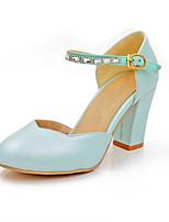 Scarpe Donna-Scarpe col tacco-Ufficio e lavoro / Casual-Tacchi / A punta-Quadrato-Similpelle-Blu / Rosa / Bianco